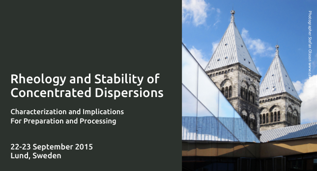 Course Rheology and Stability September 2015