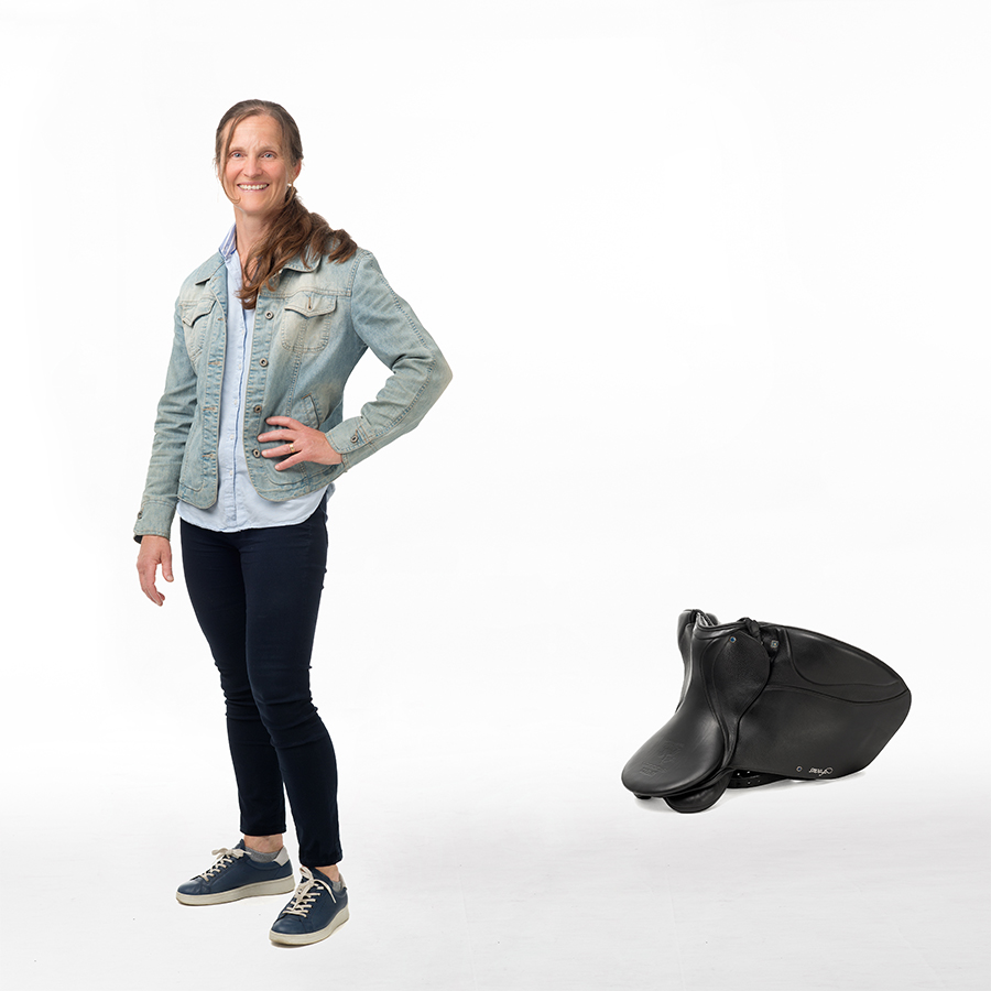 Louise with saddle